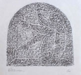 Gordon Aitcheson drawing / painting: Arch graphite rubbing on Japanese paper