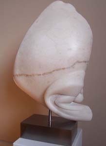 Gordon Aitcheson Bud alabaster abstract organic stone sculpture