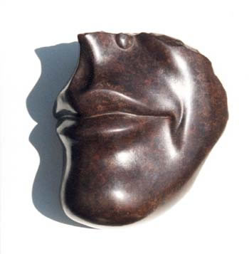Gordon Aitcheson sculpture Half forgotten smile bronze female figure mouth face smile fragment