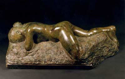 Gordon Aitcheson sculpture Sensual Landscape bronze female reclining figure