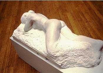 Gordon Aitcheson sculpture Sensual Landscape female reclining portland stone figure