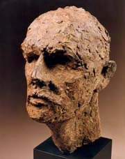 Gordon Aitcheson sculpture The Seeker bronze male human head portrait